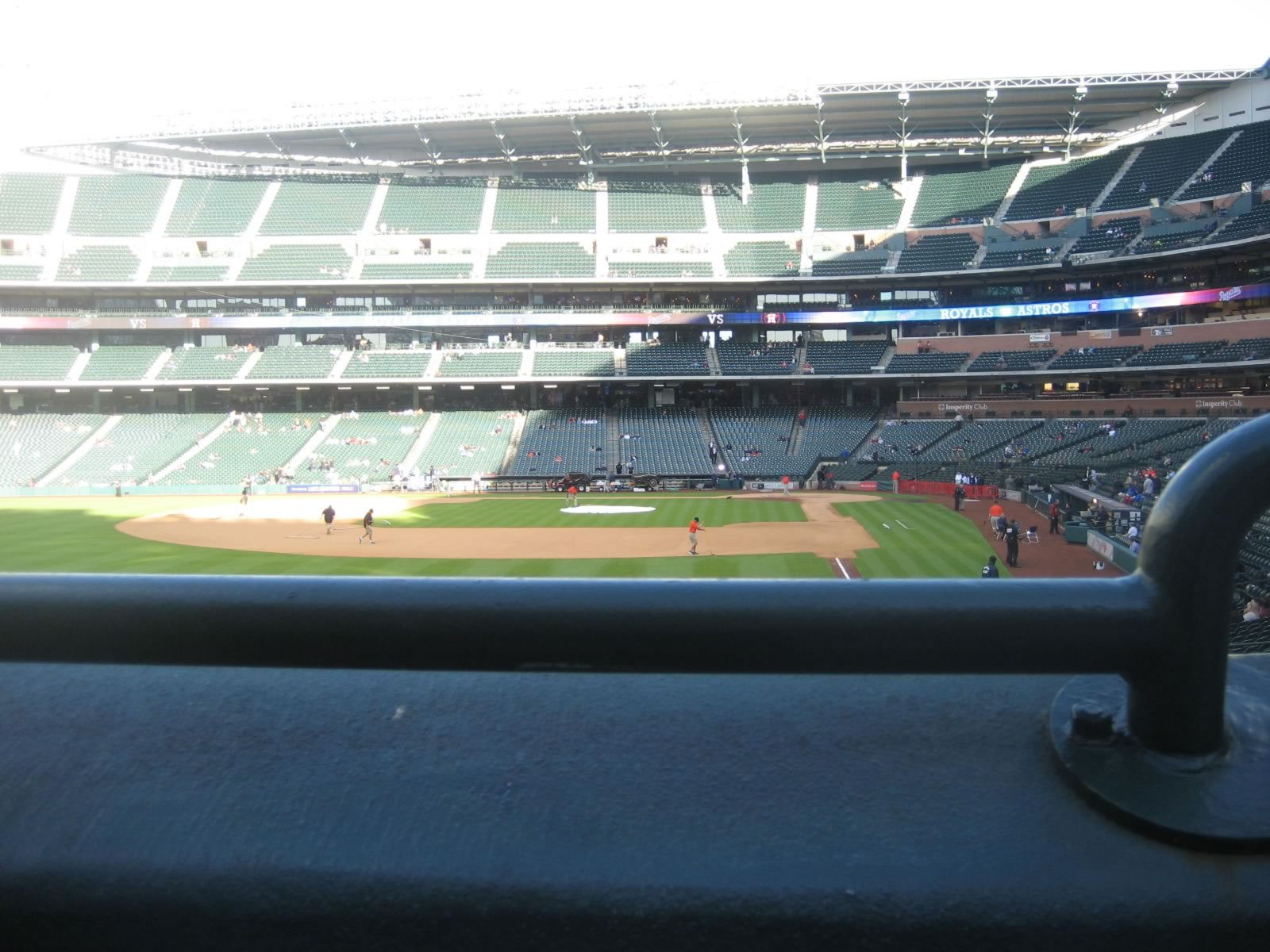 Seat View for Minute Maid Park Section 103, Row 1, Seat 20