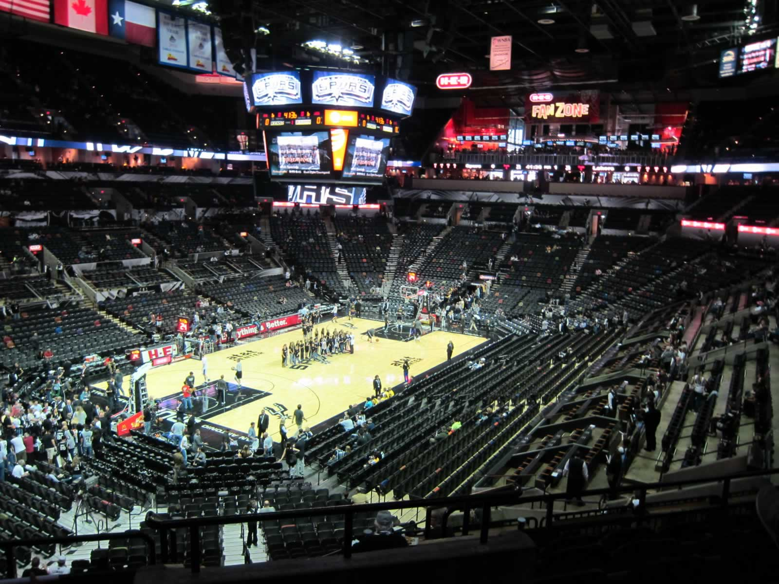 View from Section 126 at the AT&T Center