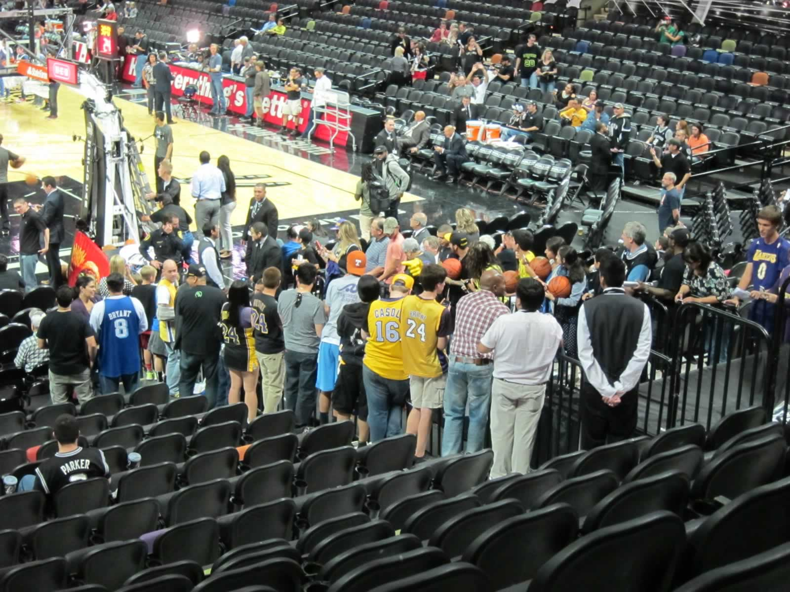 Entry Tunnel Near Section 115 at the AT&T Center