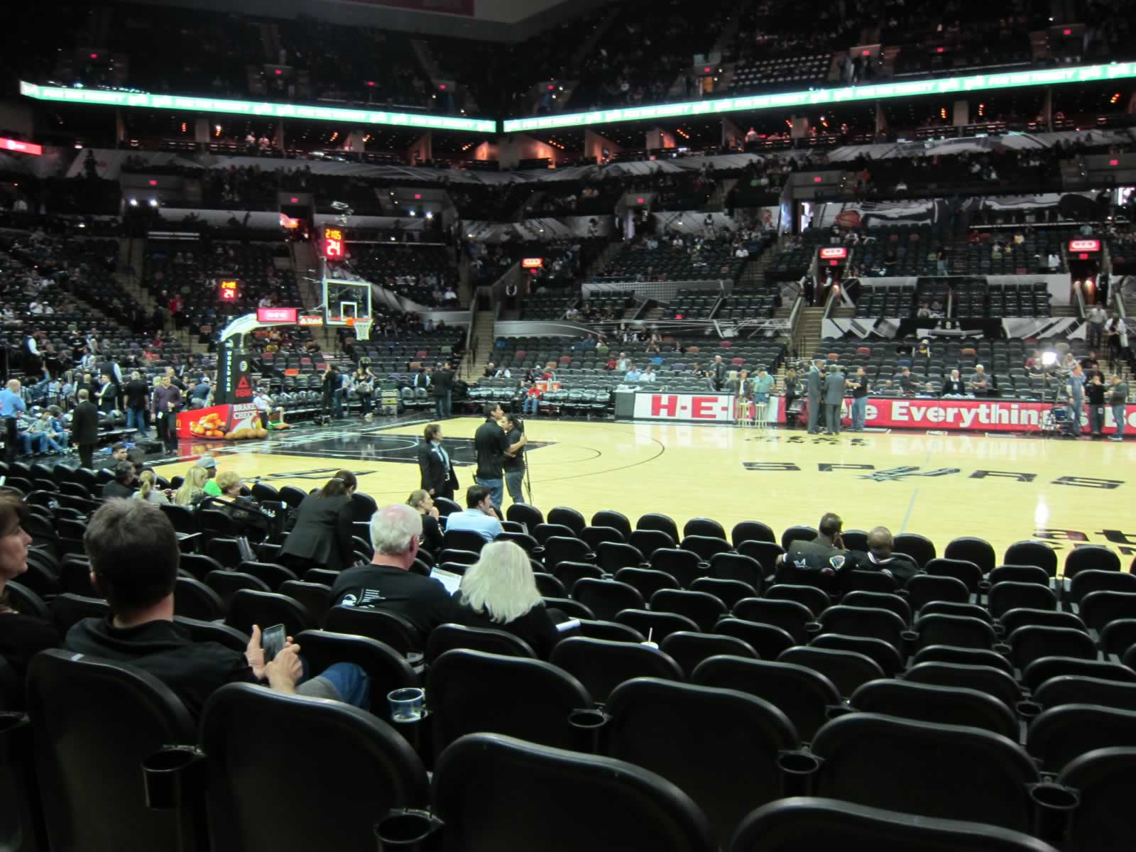 Looking Towards the Spurs Bench at the AT&T Center
