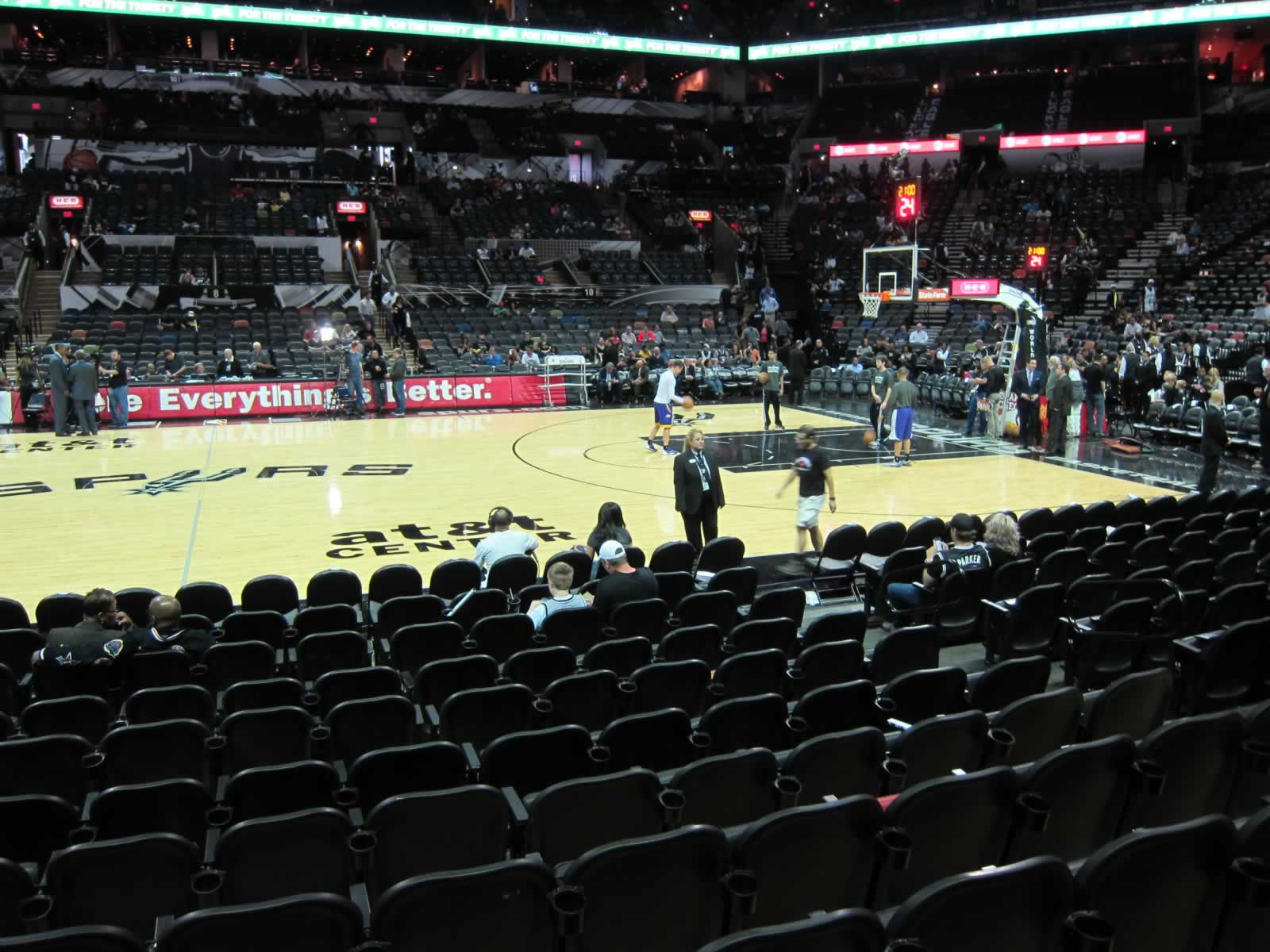 Looking Towards the Visitors Bench at the AT&T Center