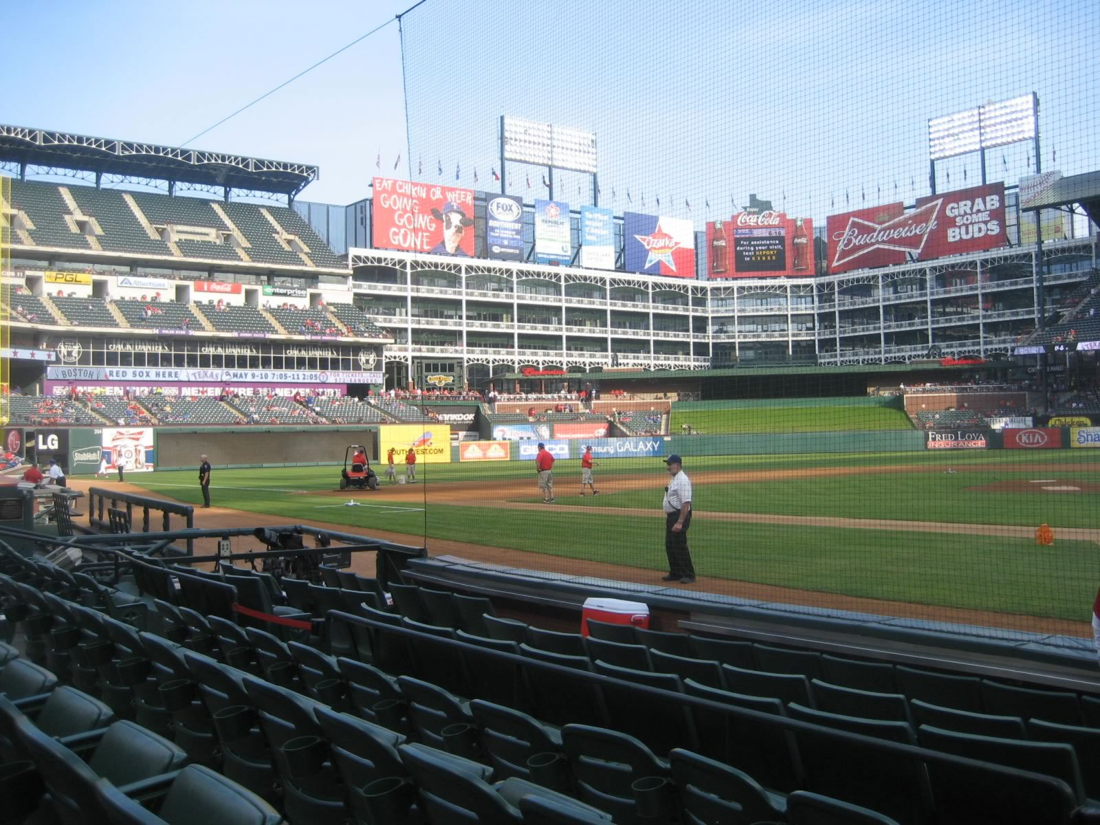 Seat View for Globe Life Park Section 23, Row 4, Seat 1