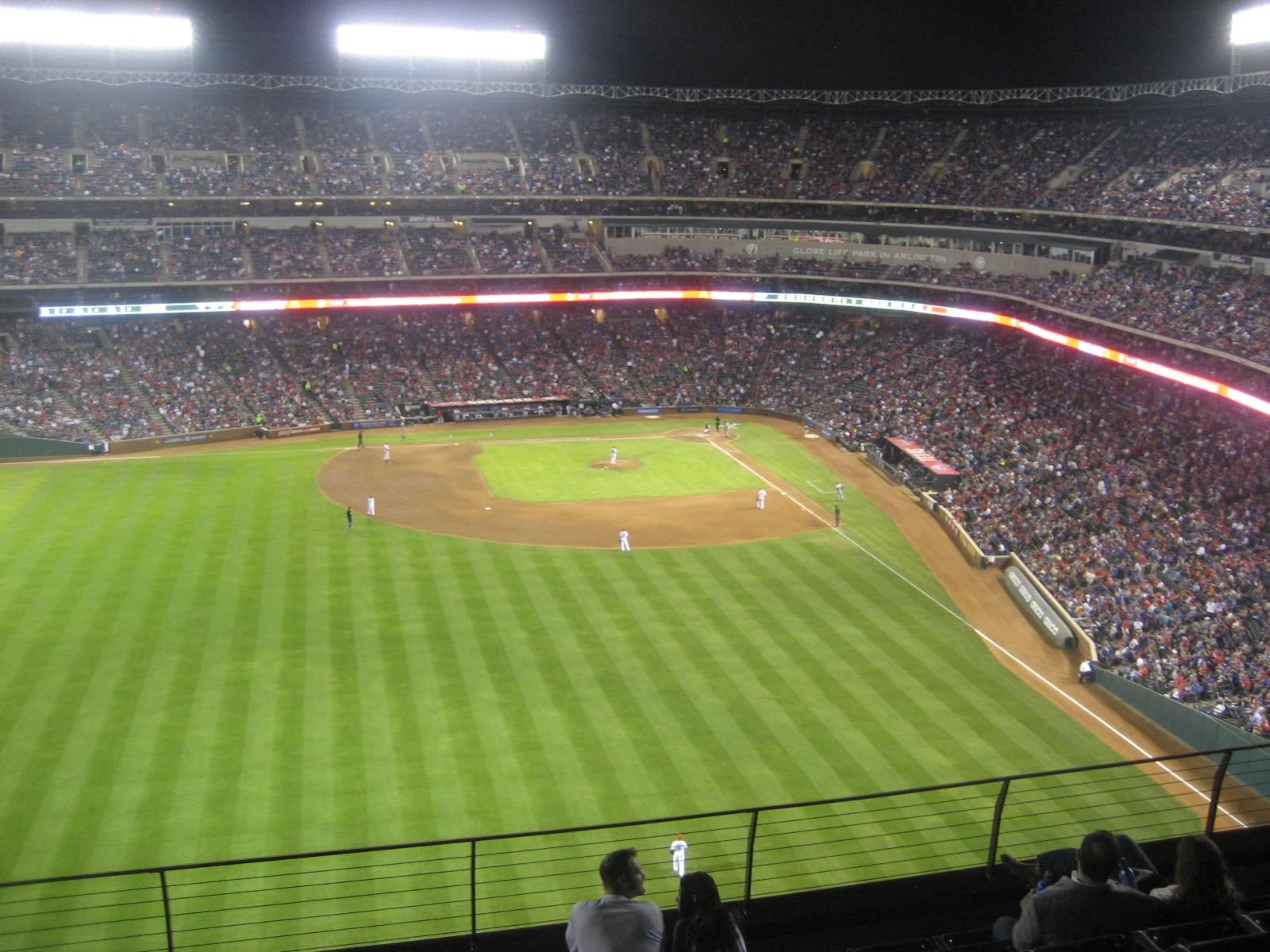 Seat View for Globe Life Park Section 302, Row 8, Seat 7