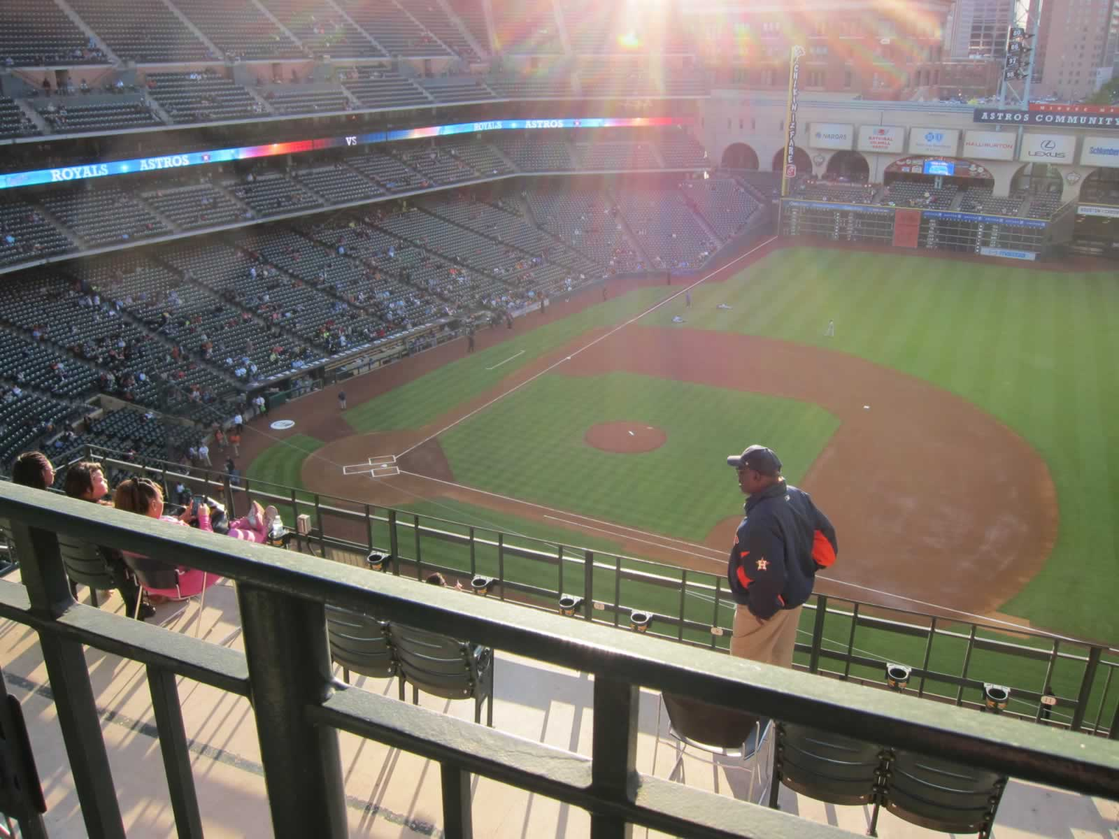 Seat View for Minute Maid Park Section 427, Row 1, Seat 13