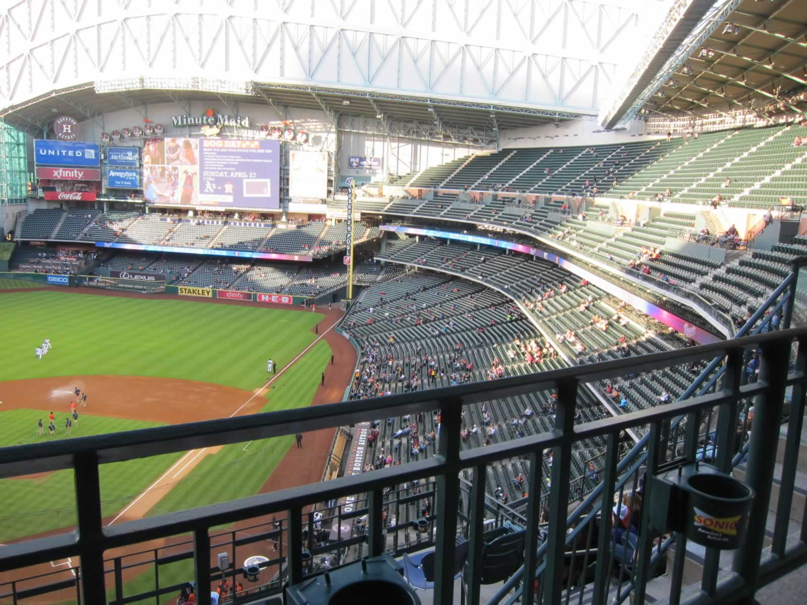 Seat View for Minute Maid Park Section 418, Row 1, Seat 11