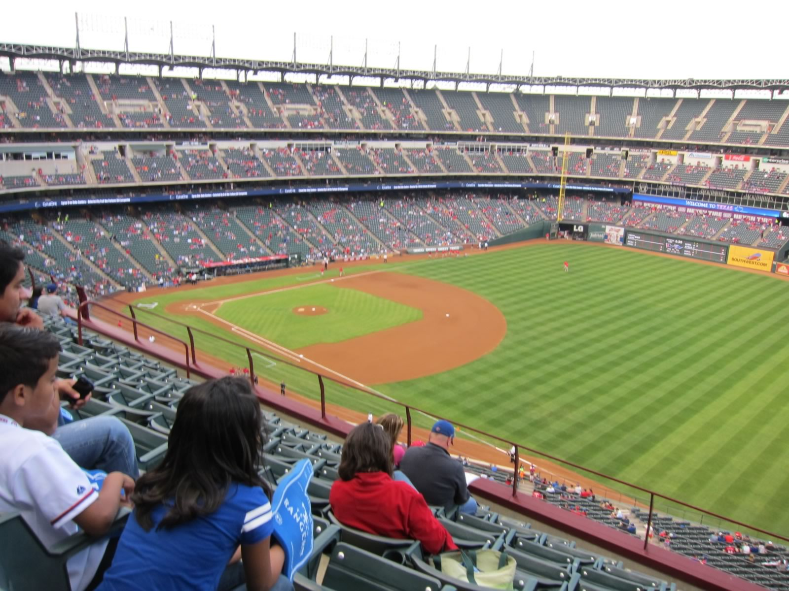Seat View for Globe Life Park Section 339, Row 8, Seat 16