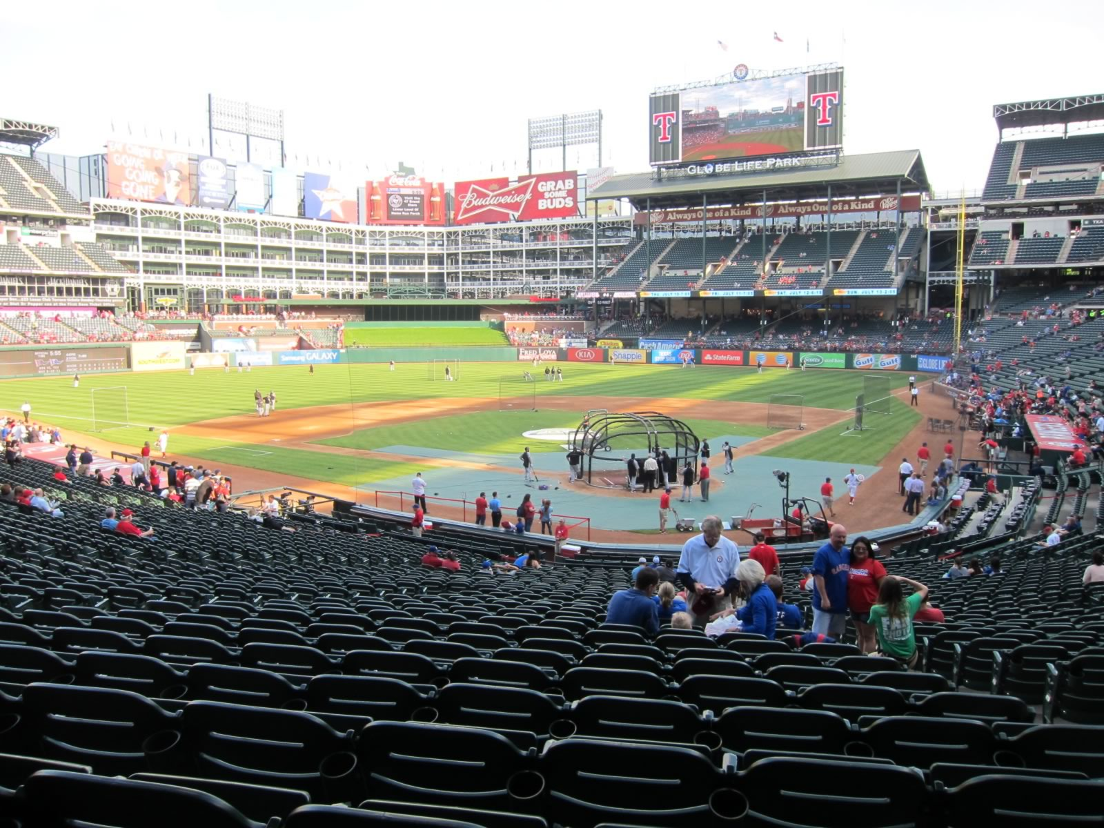 Seat View for Globe Life Park Section 125, Row 33, Seat 10