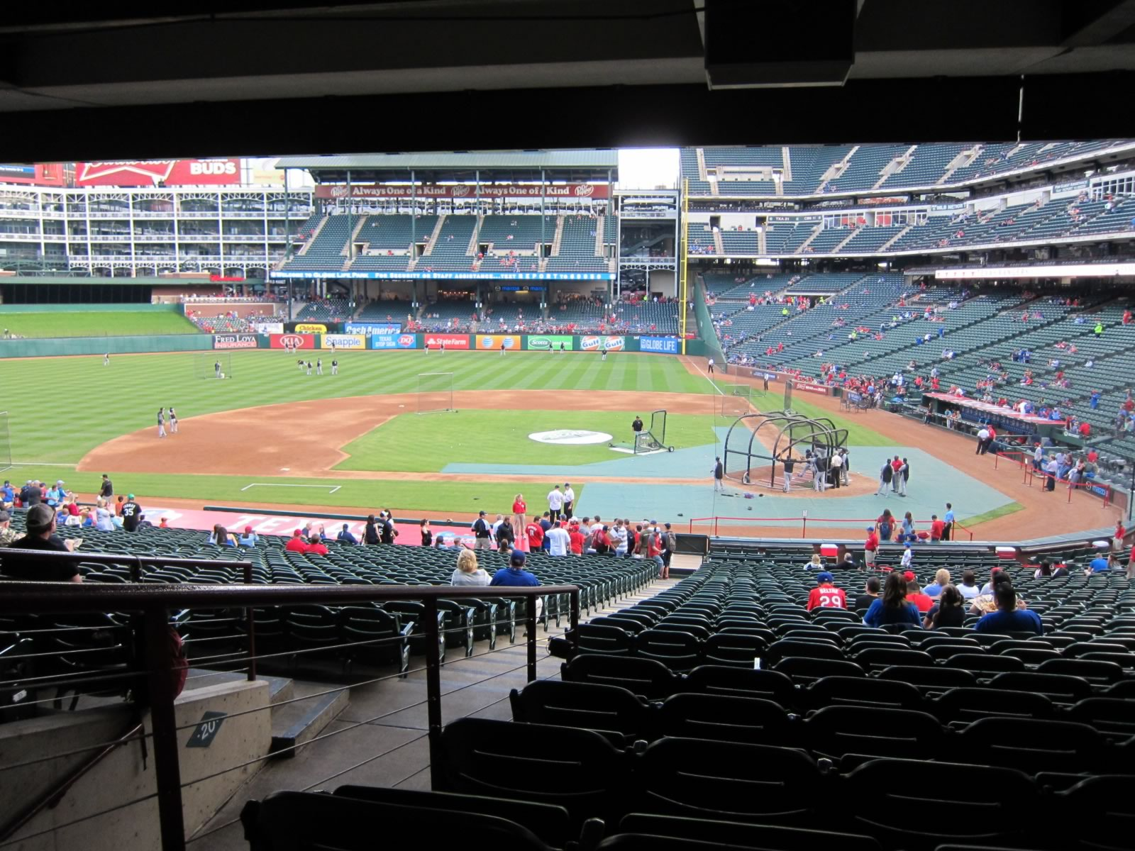 Seat View for Globe Life Park Section 121, Row 37, Seat 13