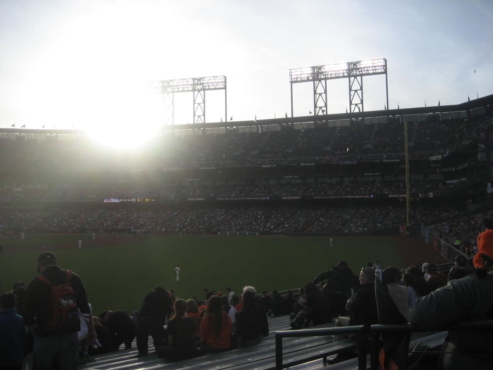 San Francisco Giants Seat View for Oracle Park Section 144, Row 33, Seat 2
