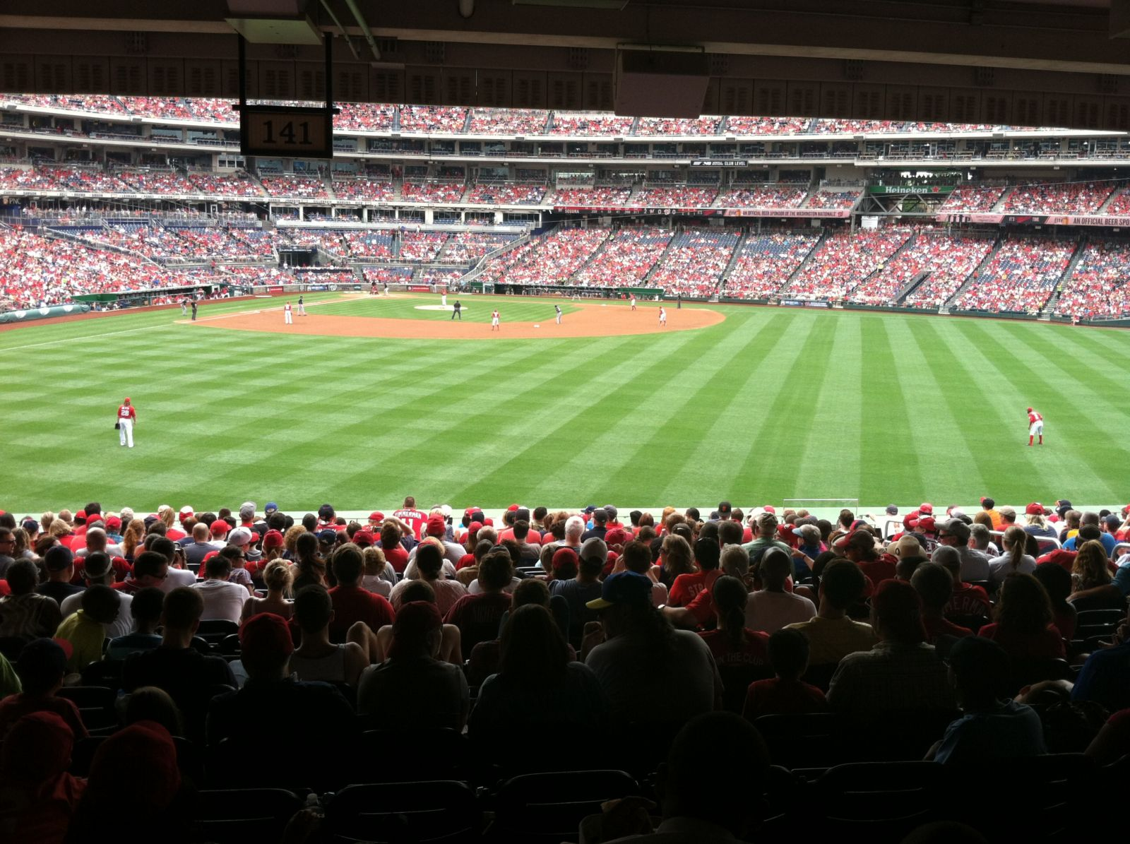 Seat View for Nationals Park Section 141, Row X, Seat 6