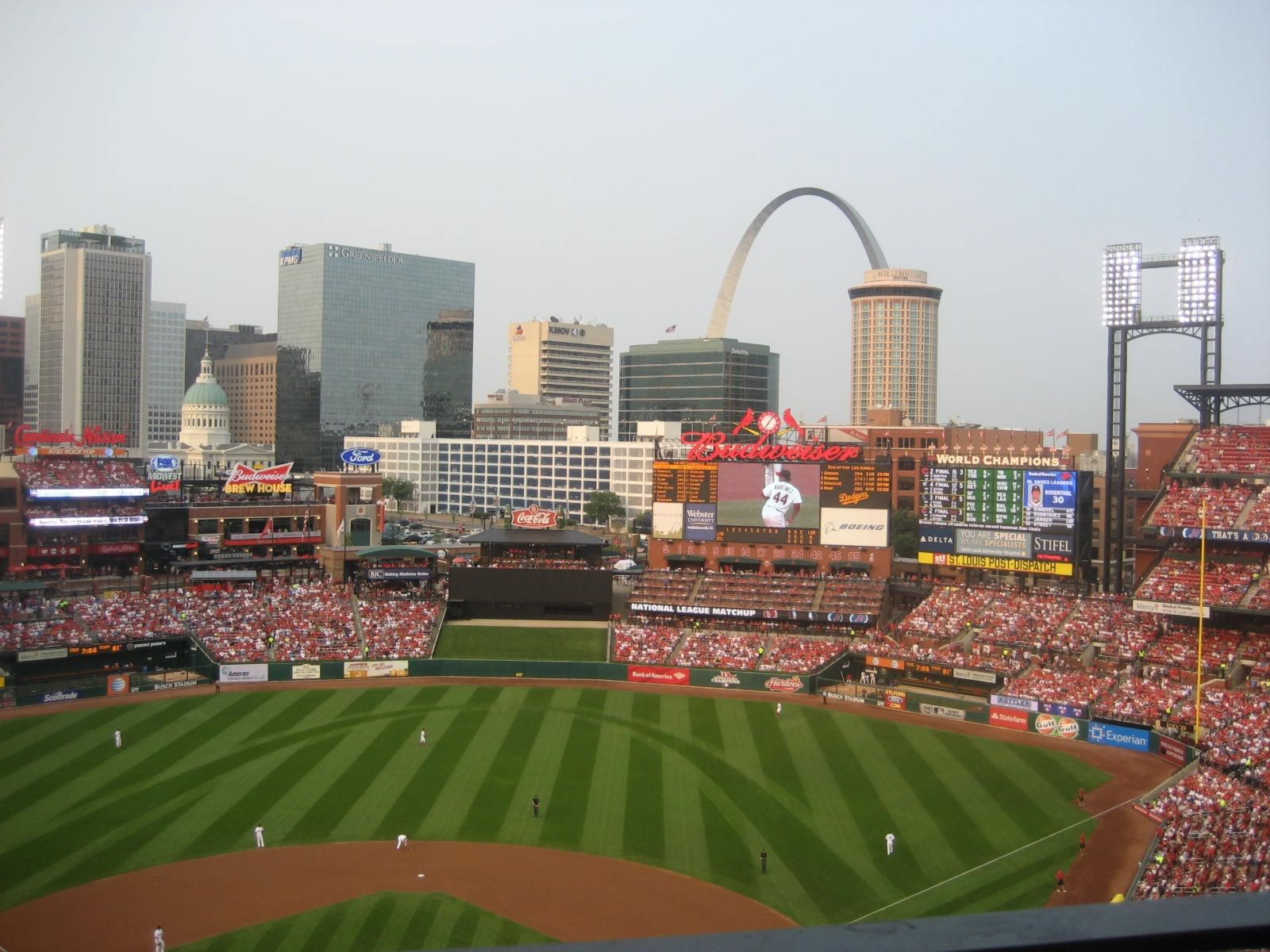 Seat View for Busch Stadium Section 449, Row 4, Seat 13