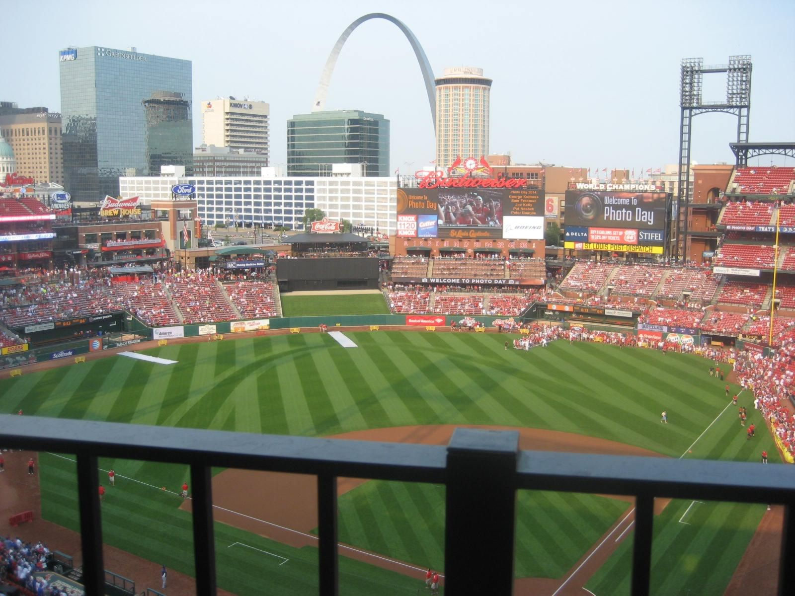 Seat View for Busch Stadium Section 452, Row 4, Seat 5