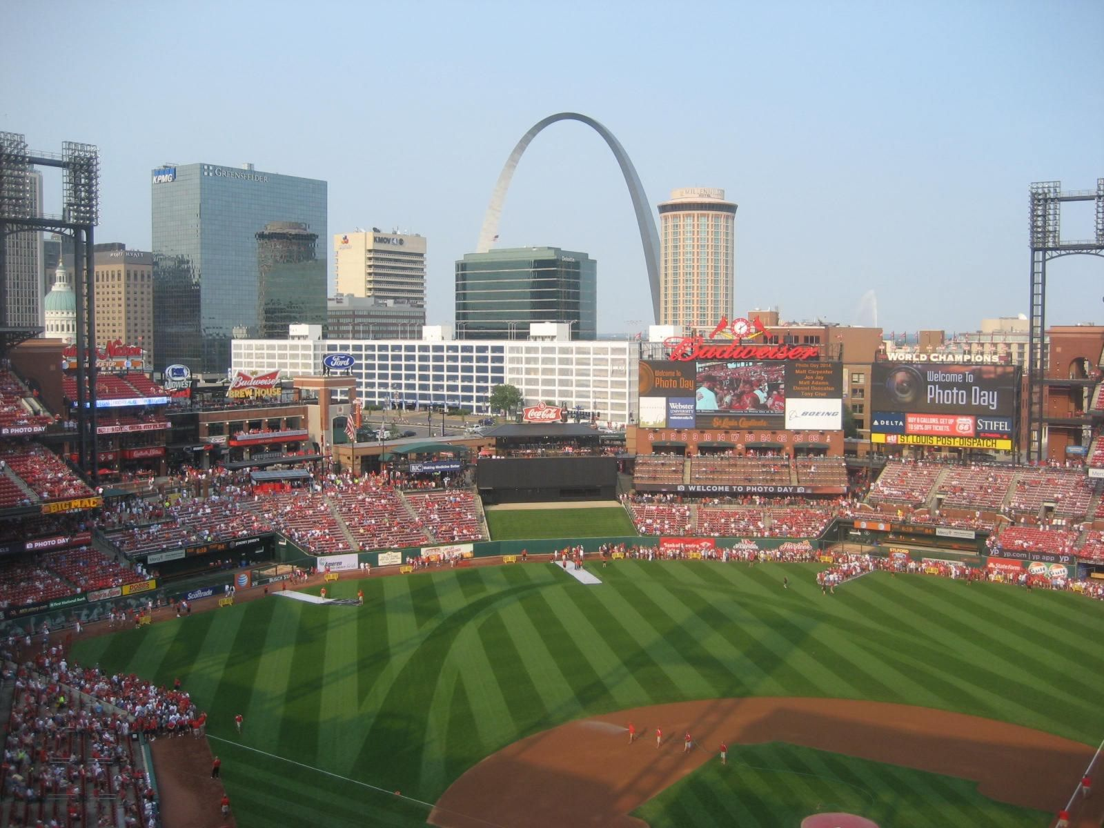 Seat View for Busch Stadium Section 453, Row 8, Seat 1