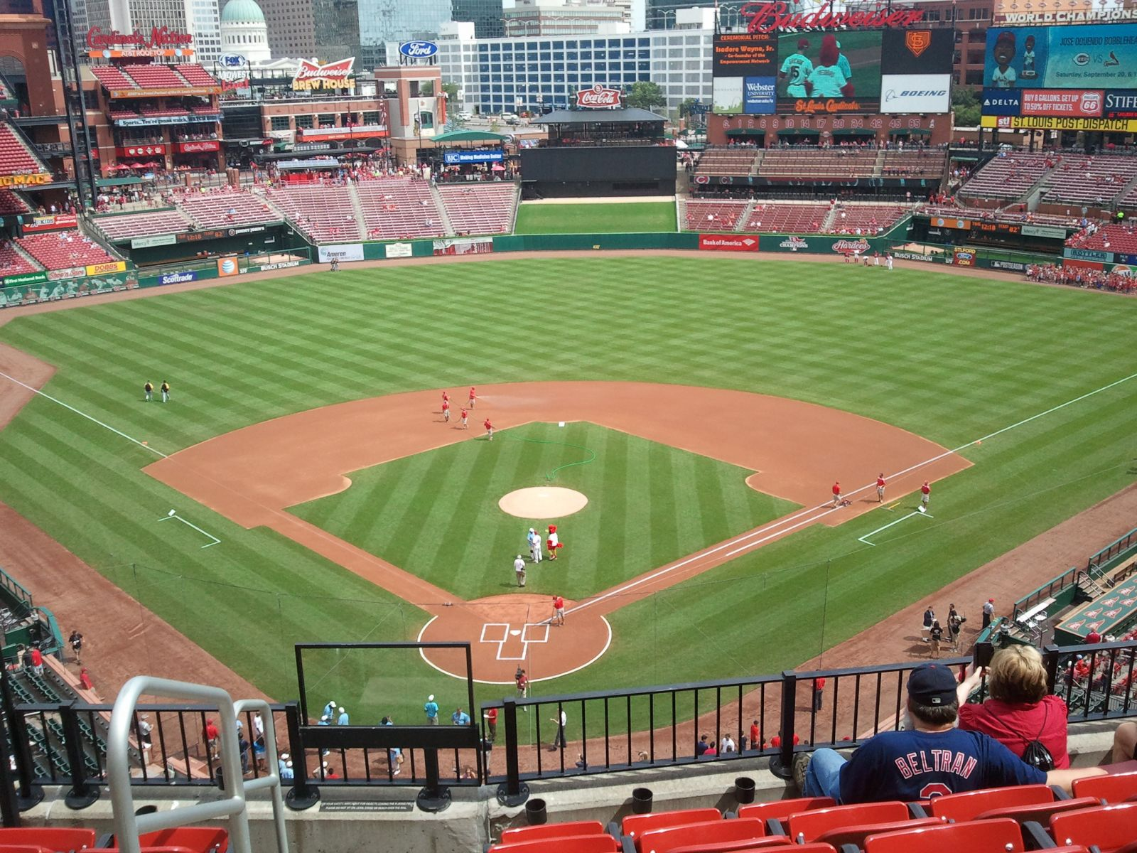 Seat View for Busch Stadium Section 350, Row 6, Seat 1