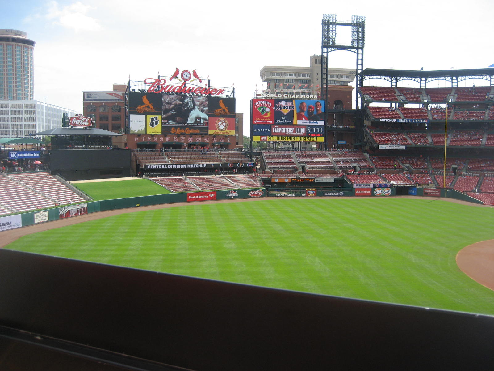 Seat View for Busch Stadium Section 263, Row 1, Seat 21