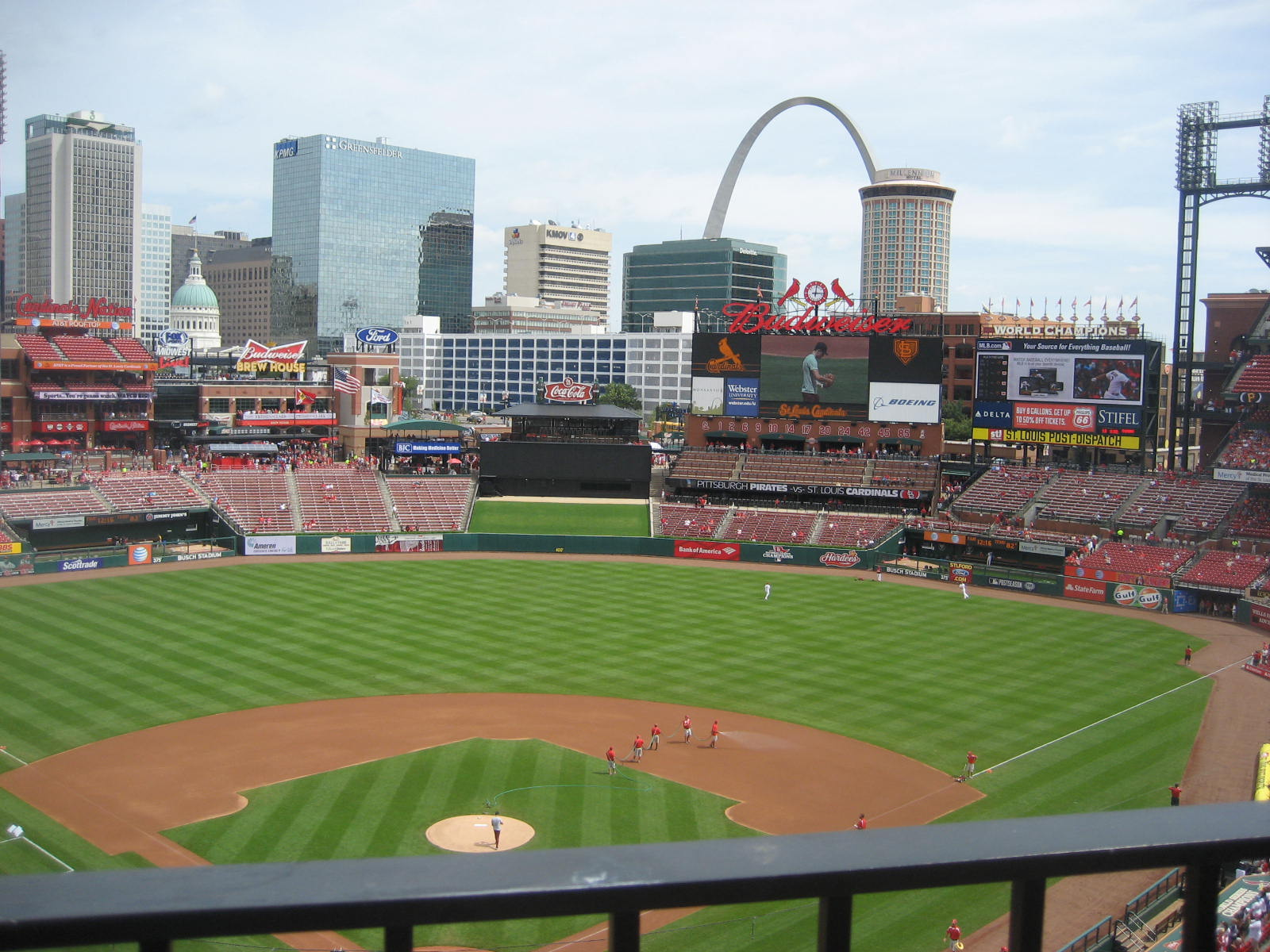 Seat View for Busch Stadium Section 349, Row 1, Seat 2