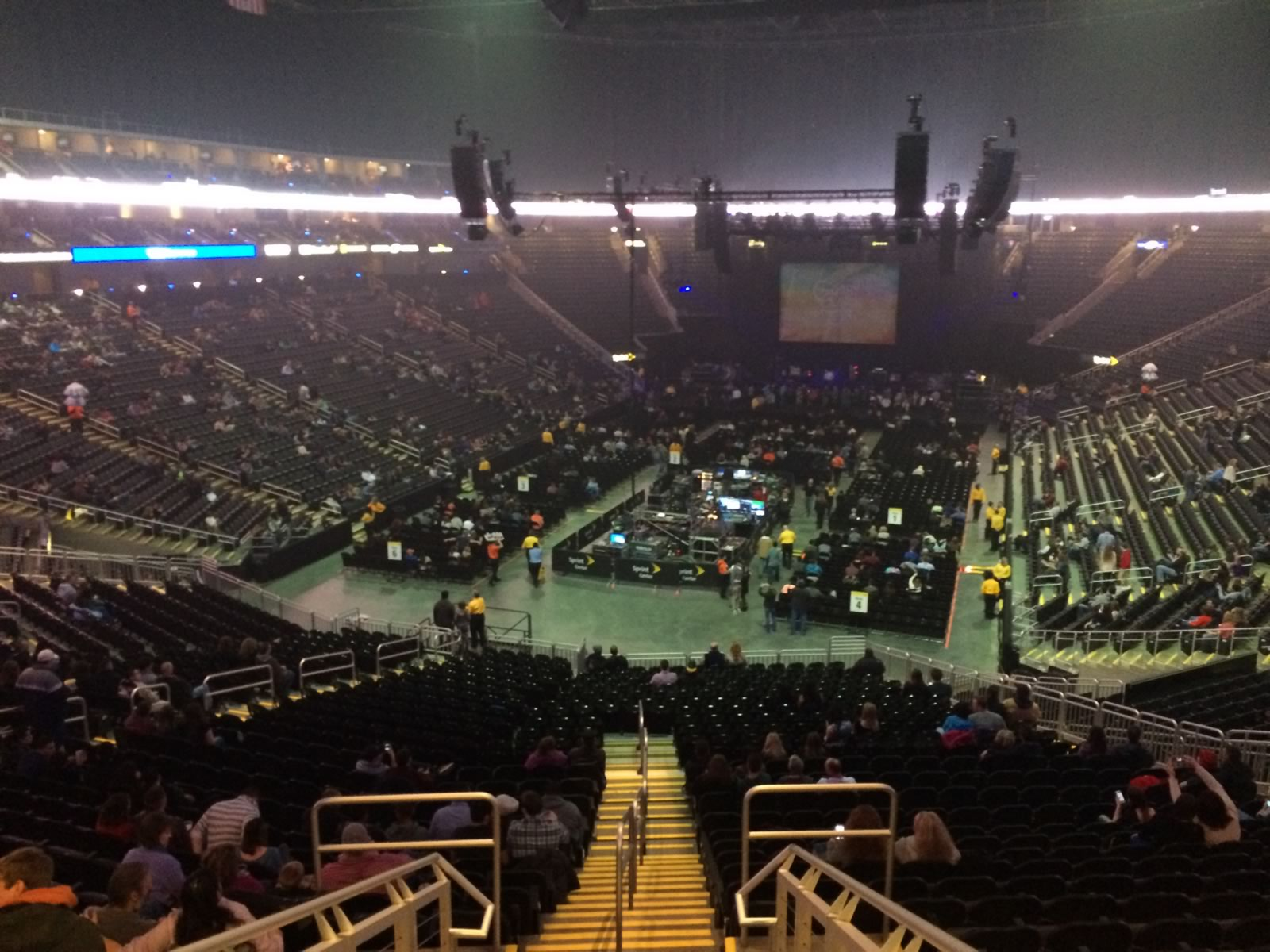 Concert Seat View for Sprint Center Section 121, Row Z