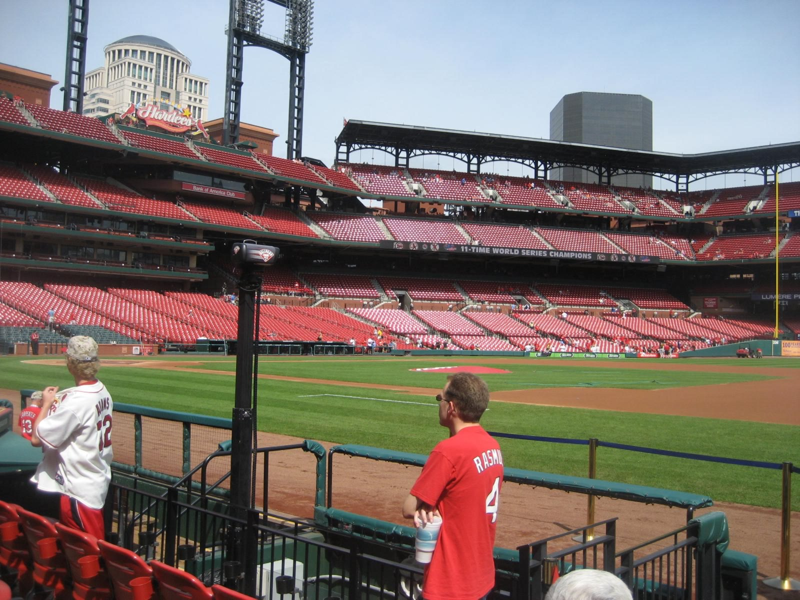 Seat View for Busch Stadium Commissioners Box, Row E