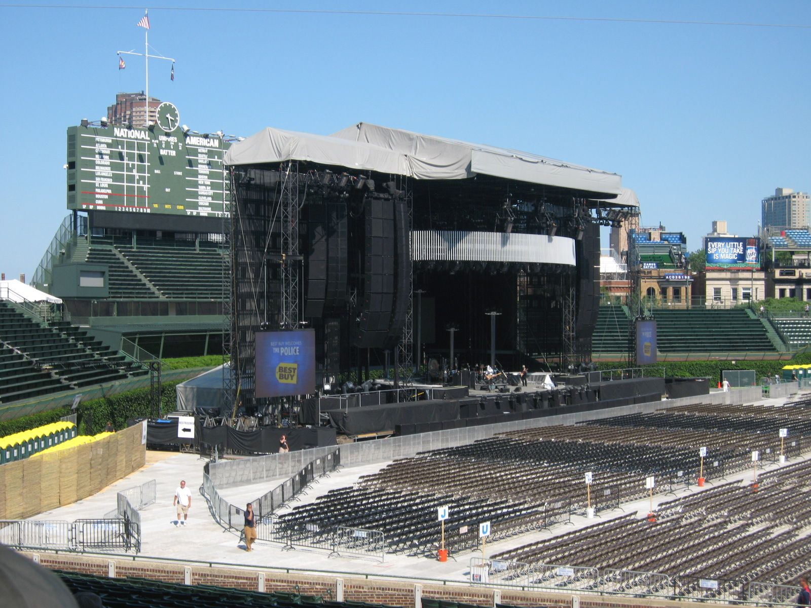 Concert Seat View for Wrigley Field Section 106