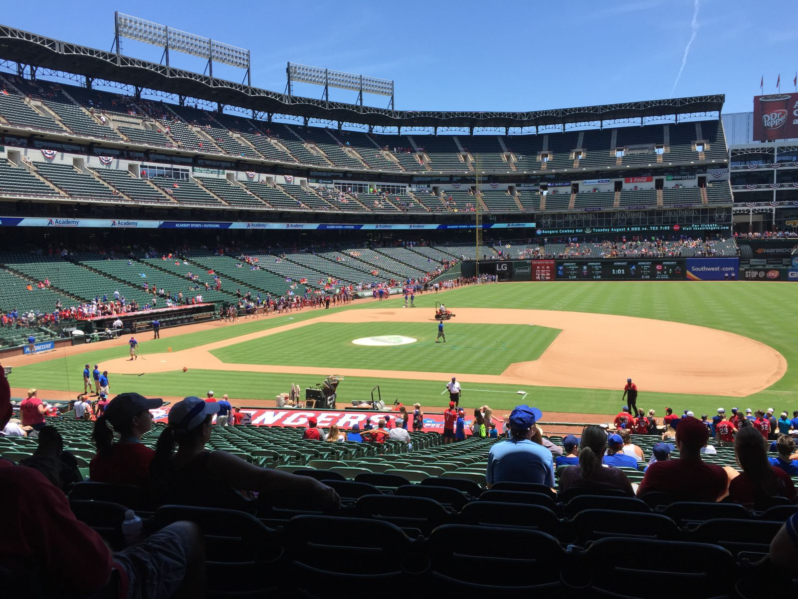Seat View for Globe Life Park Section 34, Row 23, Seat 11