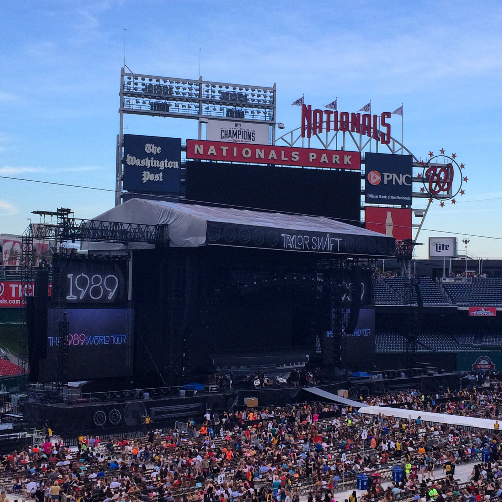 Concert Seat View for Nationals Park Section 206, Row B, Seat 6