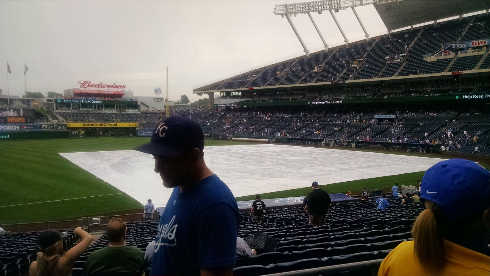 Seat View for Kauffman Stadium Section 216, Row AA, Seat 1