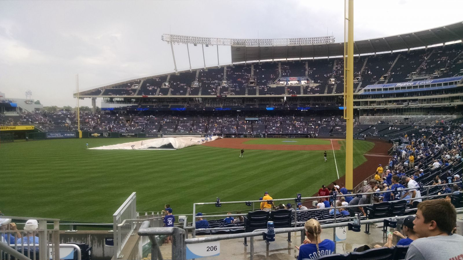 Seat View for Kauffman Stadium Section 206, Row EE, Seat 1