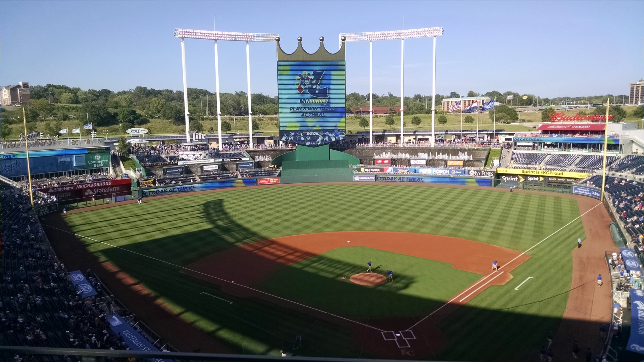 Seat View for Kauffman Stadium Section 419, Row J, Seat 7