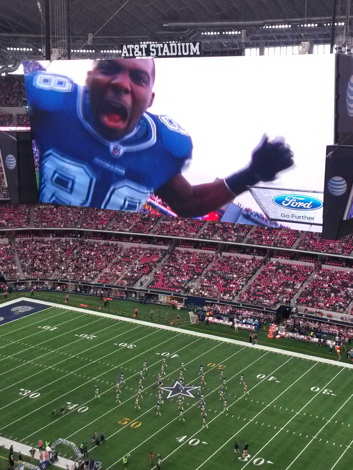 Dallas Cowboys Seat View for AT&T Stadium Section 409, Row 10, Seat 6