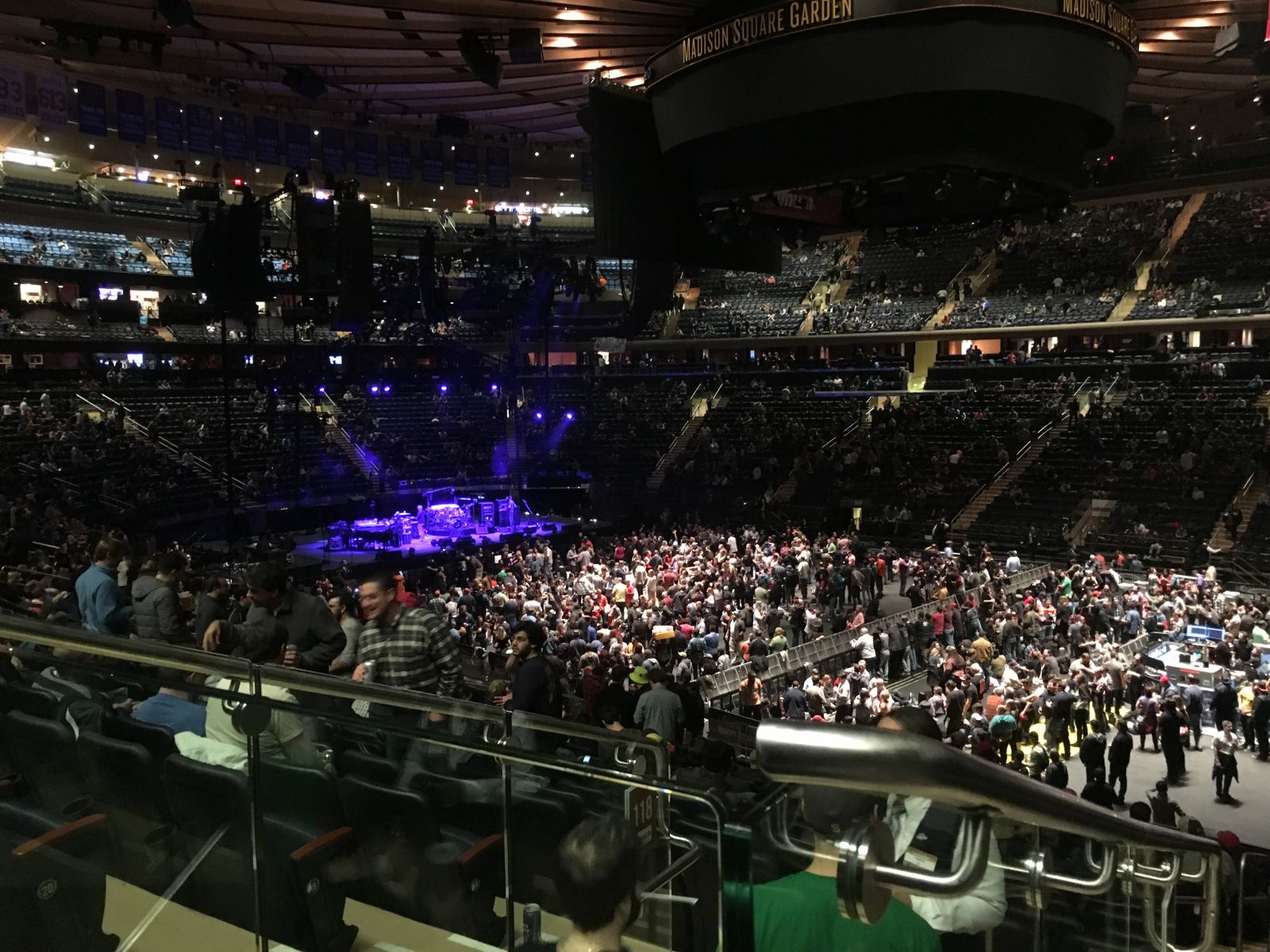 Concert Seat View for Madison Square Garden Section 119, Row 22, Seat 5