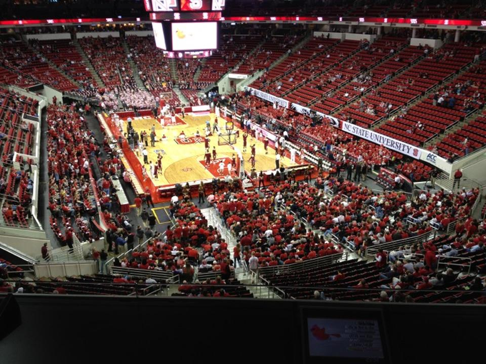 Pnc Arena Section 228 Nc State Basketball Rateyourseatscom