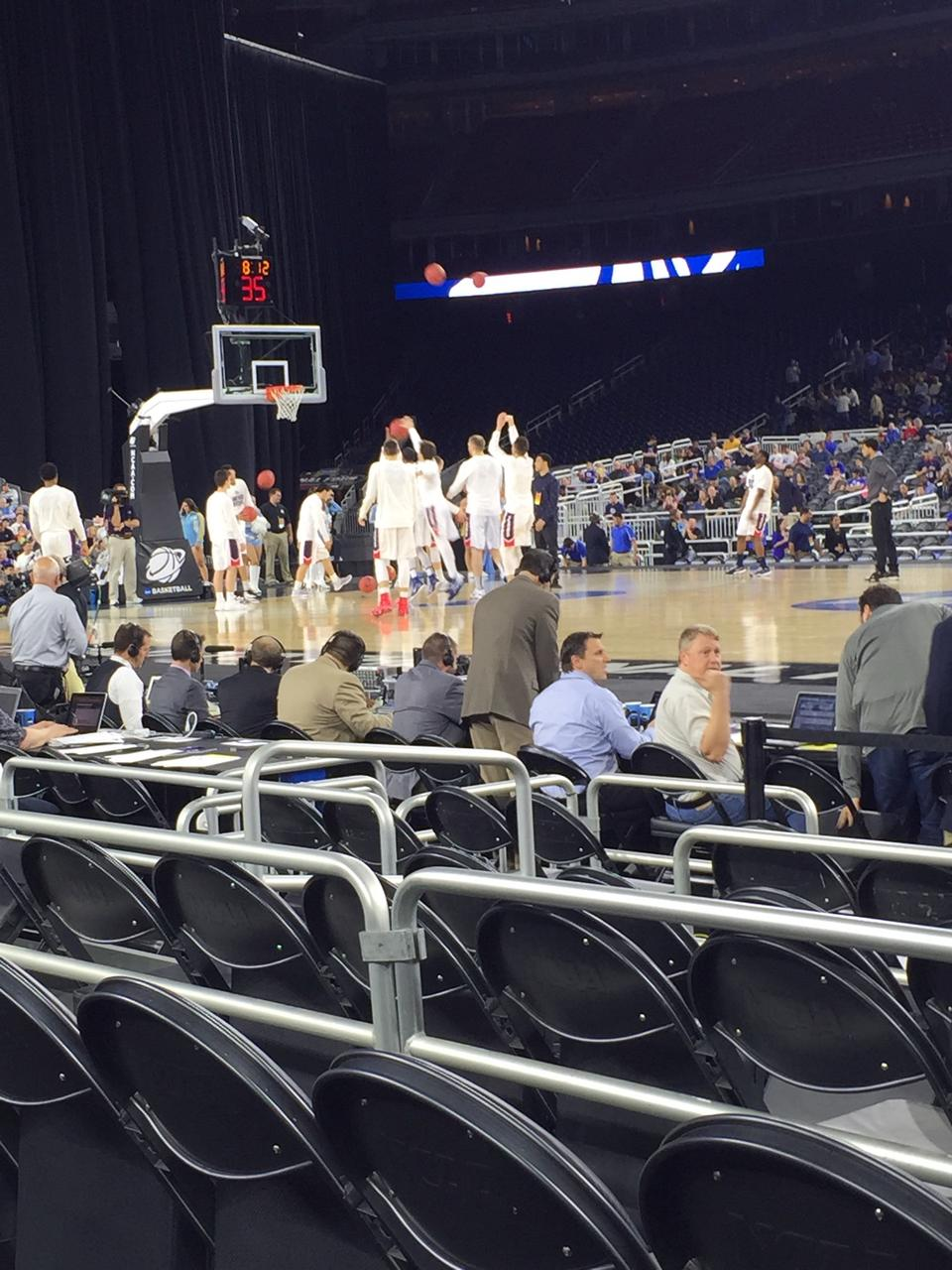 Basketball Seat View for NRG Stadium Section 106, Row 3