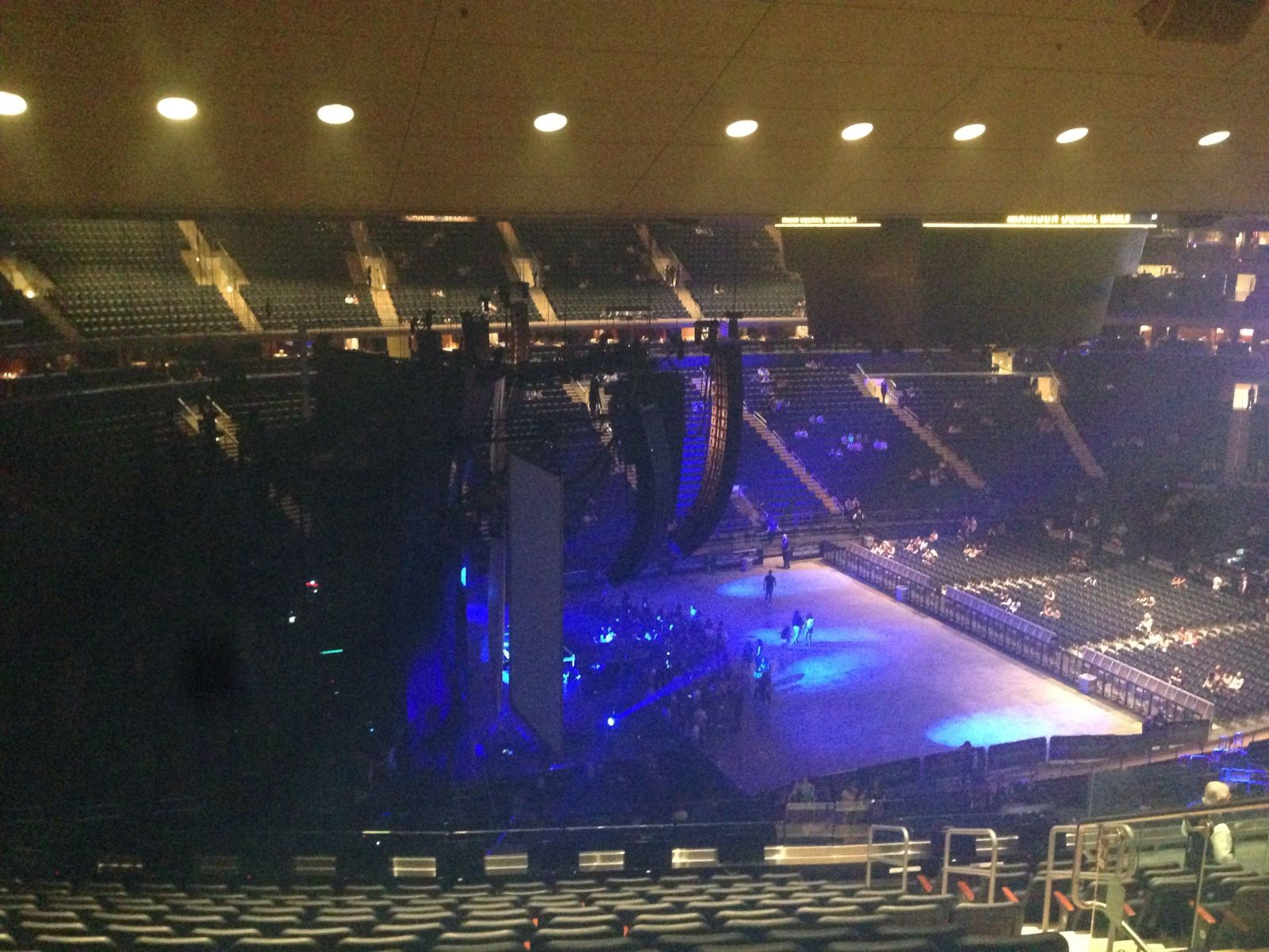 Concert Seat View for Madison Square Garden Section 221, Row 14, Seat 22