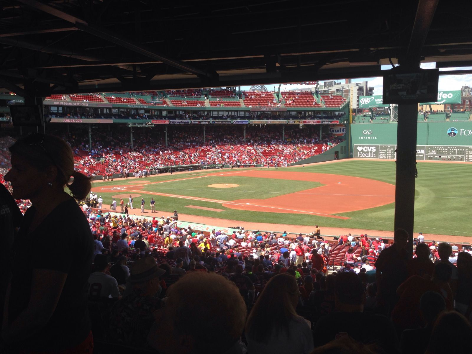 Seat View for Fenway Park Grandstand 12, Row 15, Seat 15