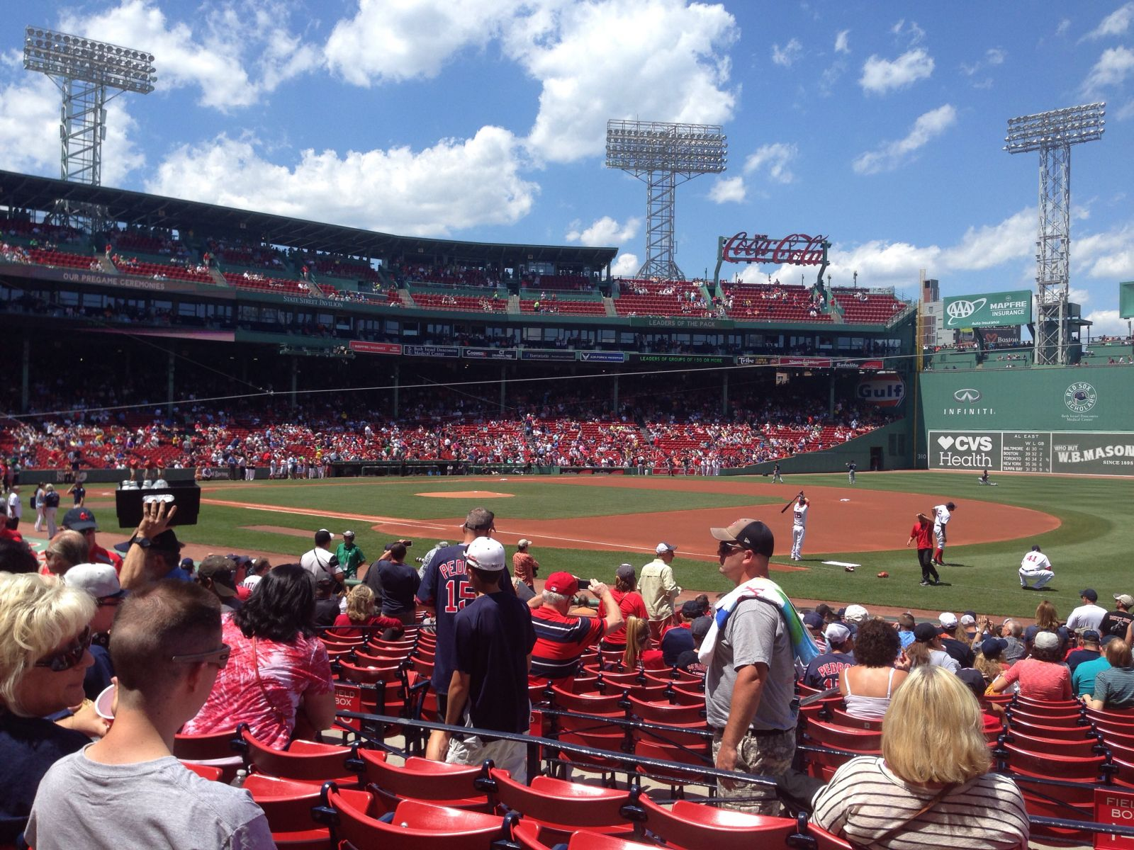 Seat View for Fenway Park Loge Box 101, Row EE