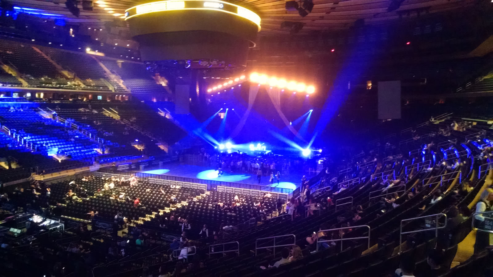 Concert Seat View for Madison Square Garden Section 104, Row 22, Seat 5
