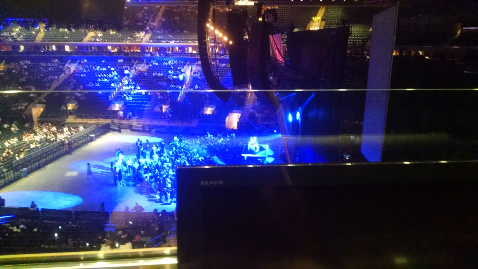 Concert Seat View for Madison Square Garden Section 213, Row 1, Seat 7
