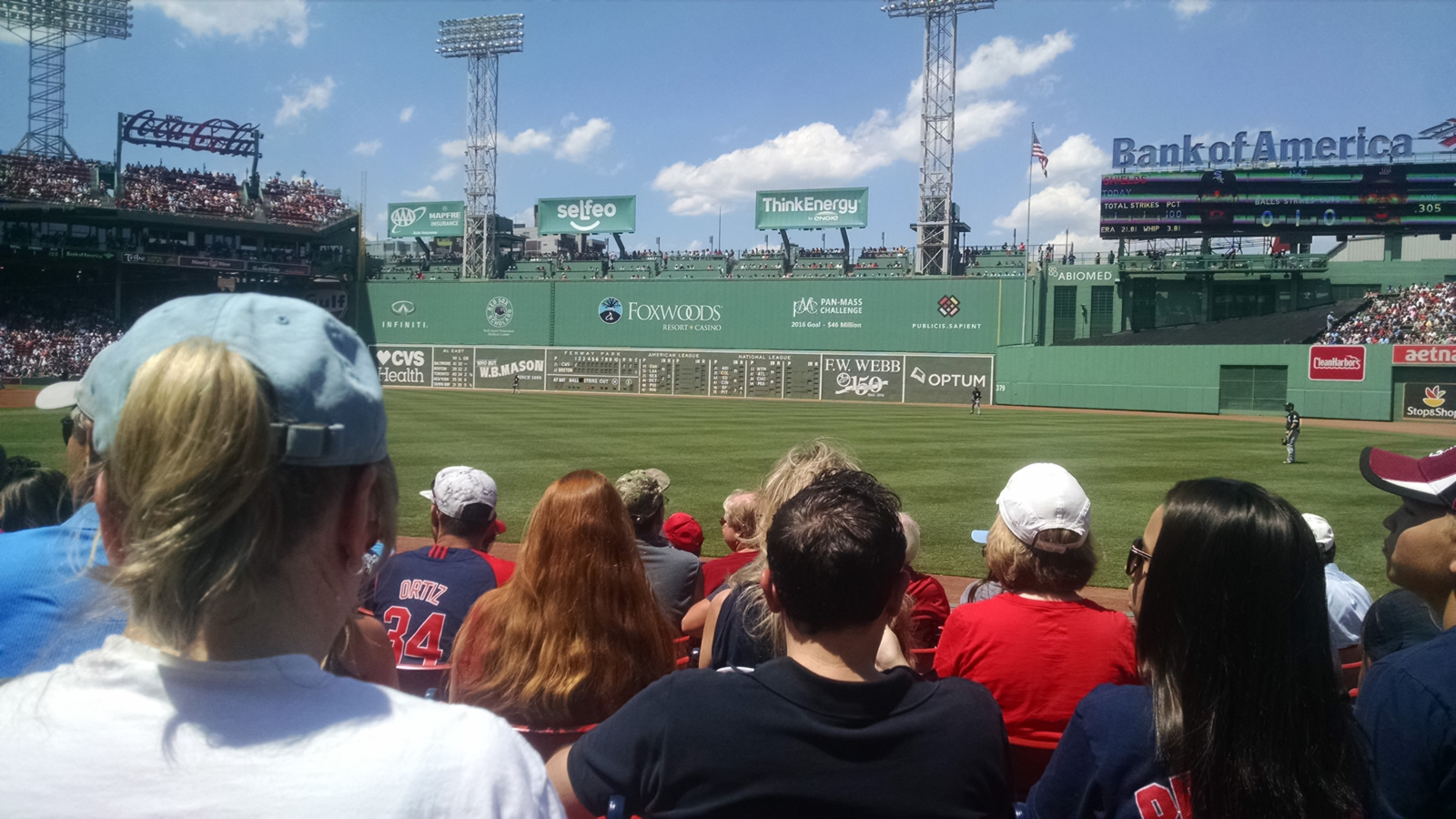 Seat View for Fenway Park Field Box 7, Row H, Seat 7