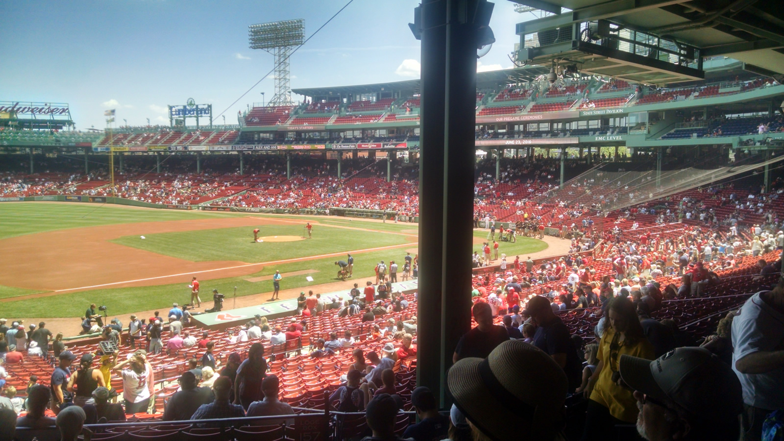 Seat View for Fenway Park Grandstand 29, Row 7, Seat 3