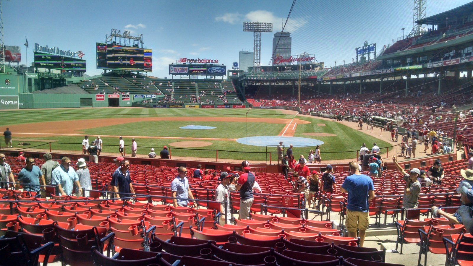 Seat View for Fenway Park Loge Box 137, Row JJ, Seat 3