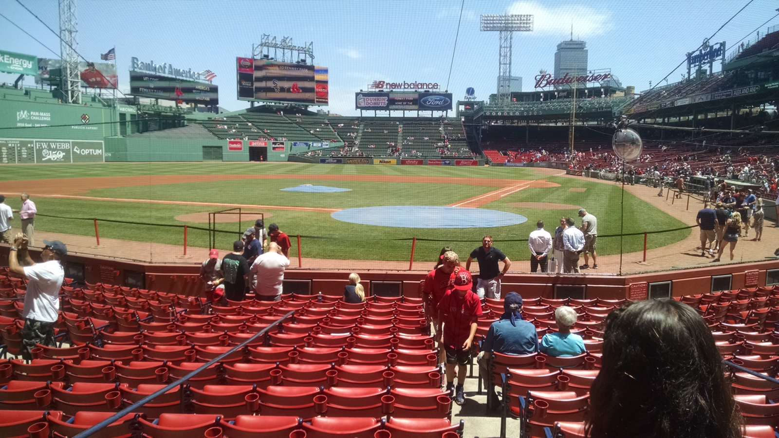 Seat View for Fenway Park Field Box 49, Row M, Seat 1