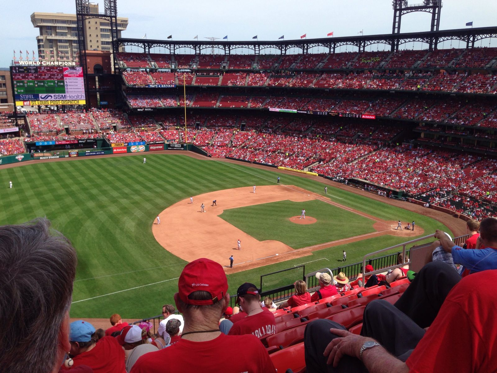 Seat View for Busch Stadium Section 360, Row 9