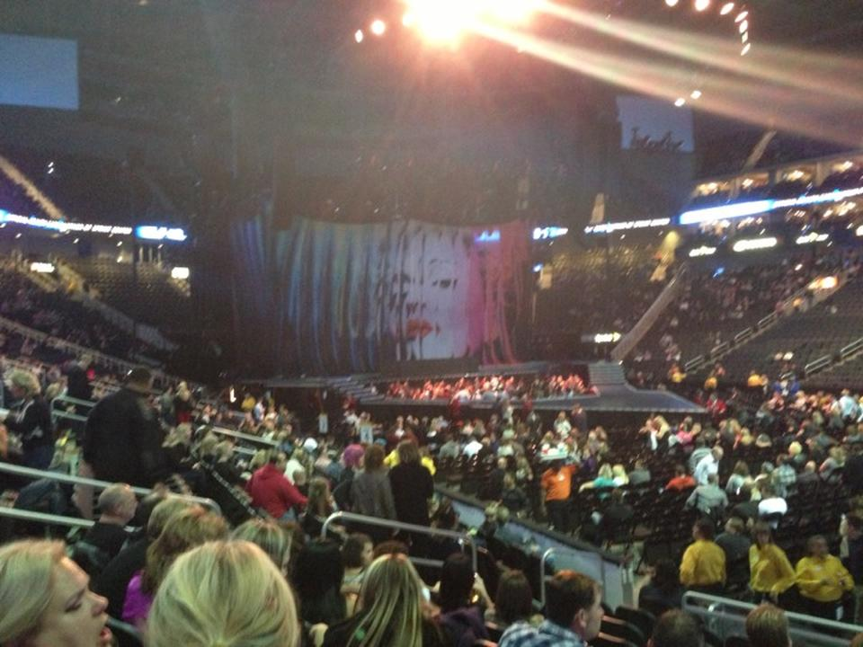 Concert Seat View for Sprint Center Section 104, Row 8