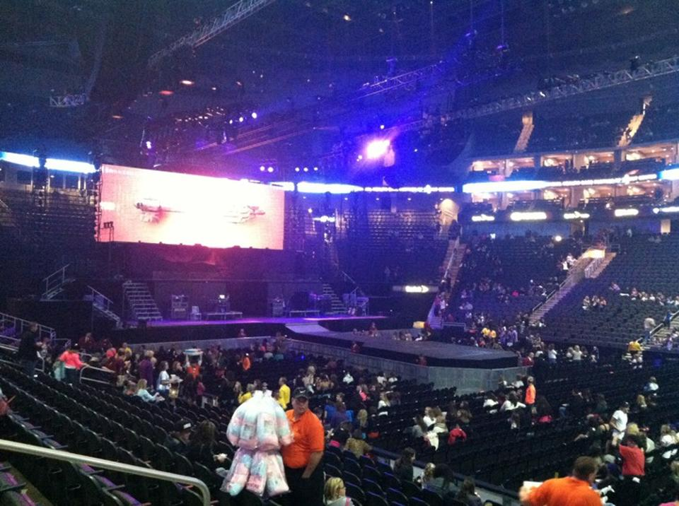 Concert Seat View for Sprint Center Section 105, Row 11