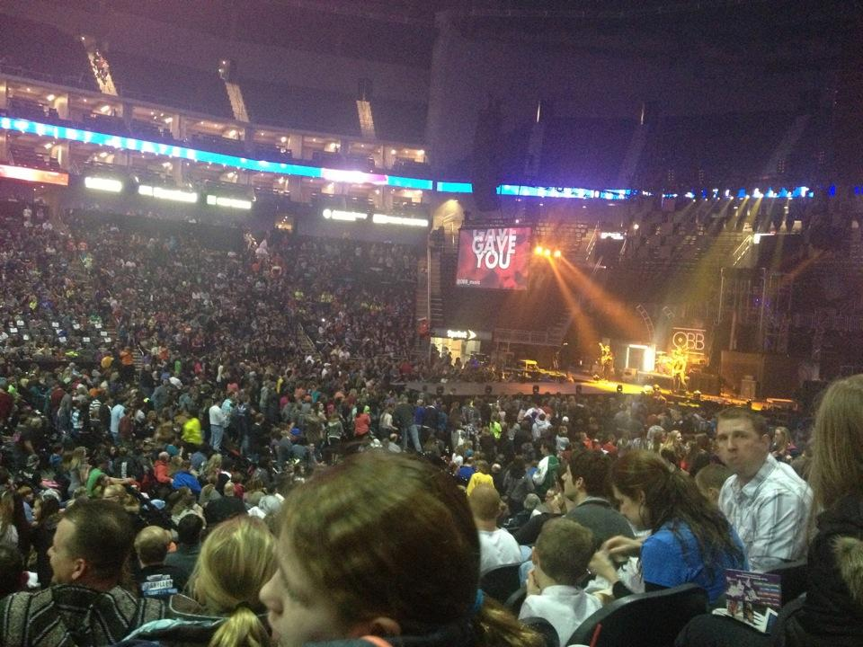 Concert Seat View for Sprint Center Section 117, Row 17