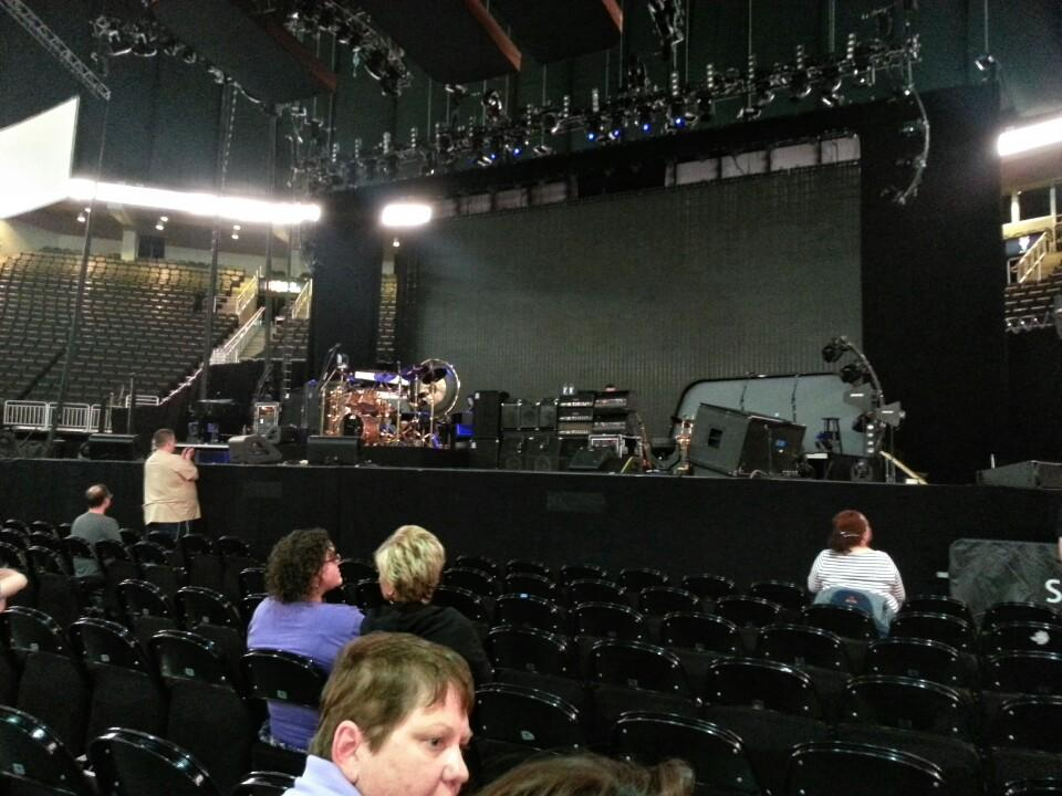 Concert Seat View for Sprint Center Floor 1, Row 8