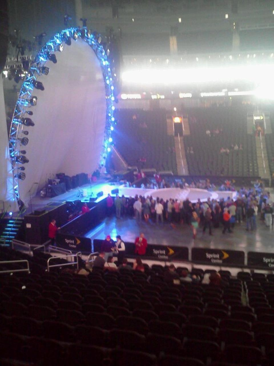 Concert Seat View for Sprint Center Section 107, Row 18