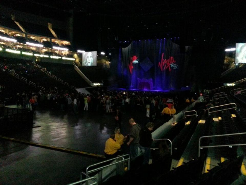 Concert Seat View for Sprint Center Section 119, Row 5