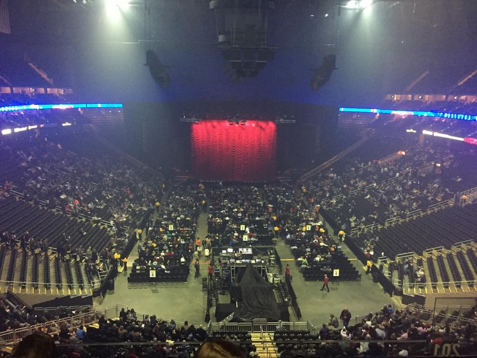 Concert Seat View for Sprint Center Section 201, Row 4