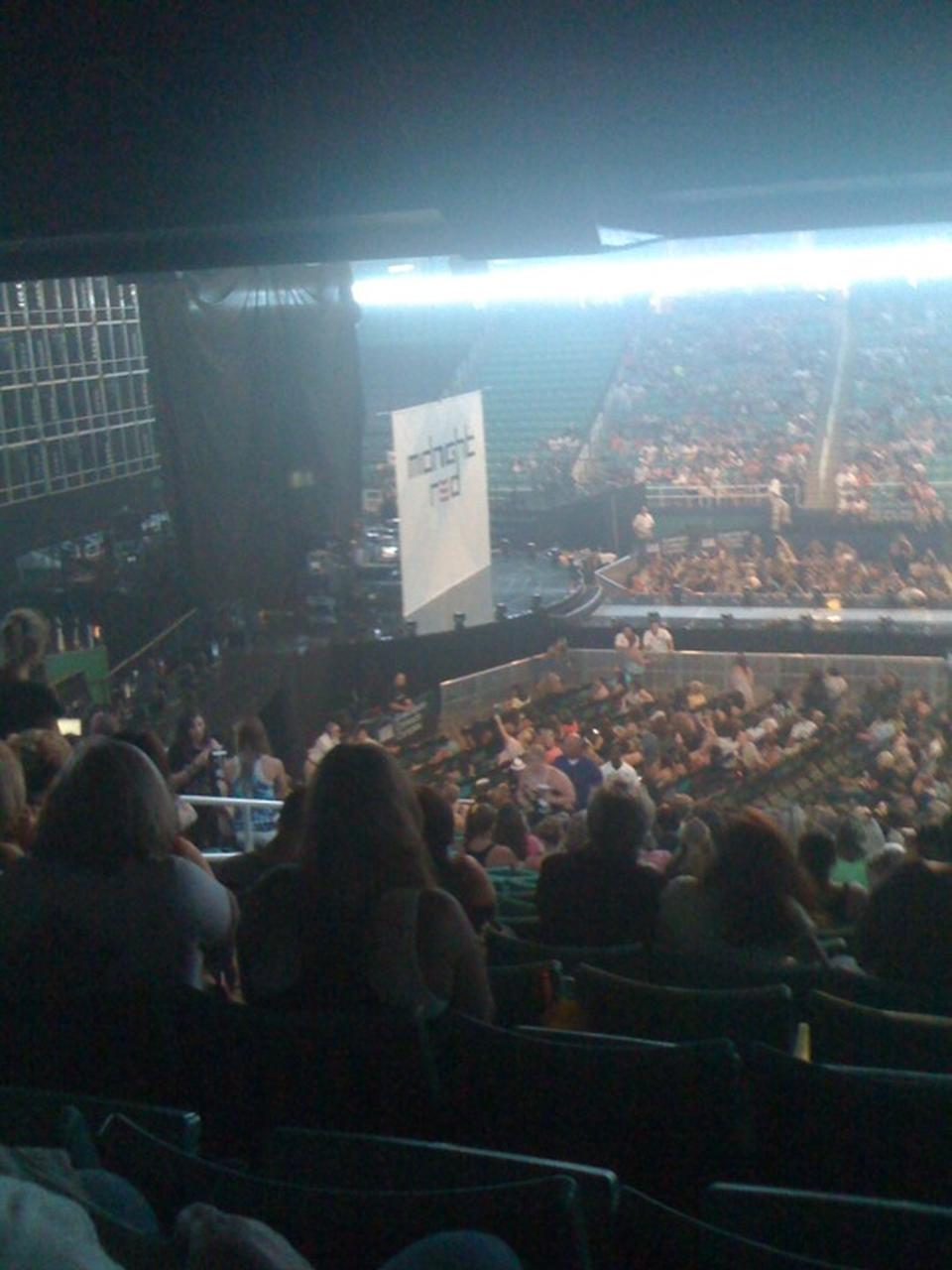 Concert Seat View for Greensboro Coliseum Section 109, Row SS